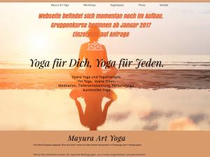 Website Mayura Art Yoga